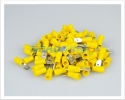 Male Cable Terminals | Insulated Yellow Male Terminals 2.5 - 6.0mm² | 100 Pcs